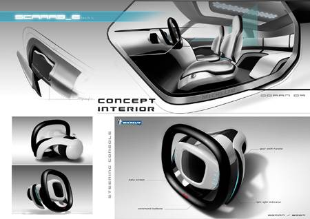 SCARAB-E concept vehicle just like a beetle