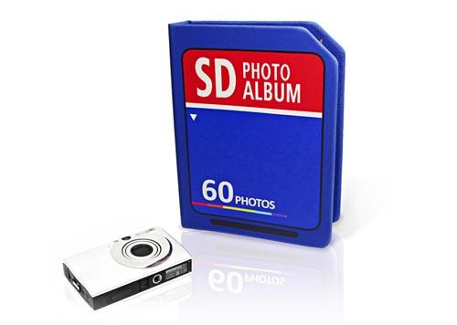SD card photo album storing 60 photos