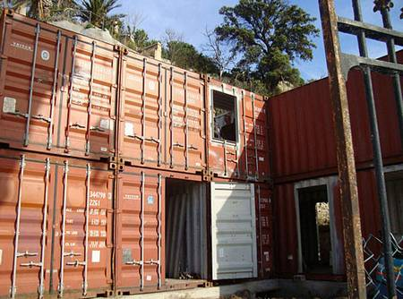 Shipping container house in France