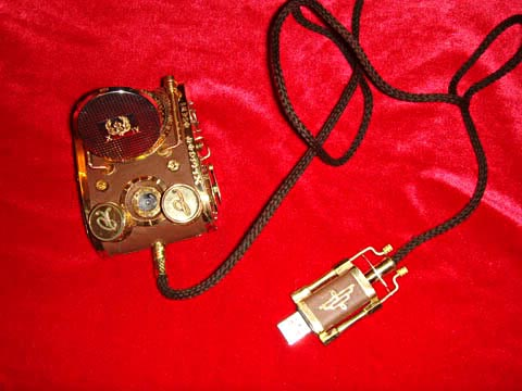 Ultra-cool steampunk PC mouse