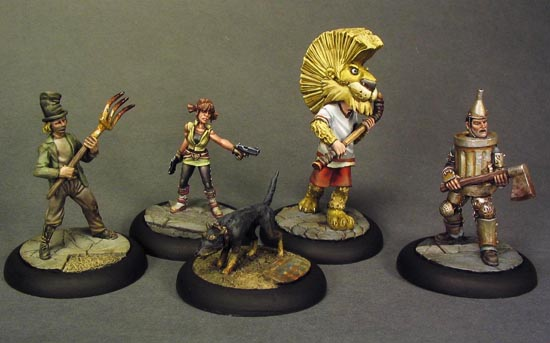 steampunk Wizard of Oz miniatures