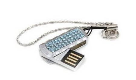 USB flash drives with Swarovski crystals