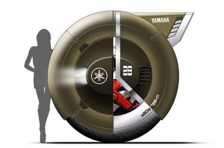Wheel Rider Concept, speed by one wheel