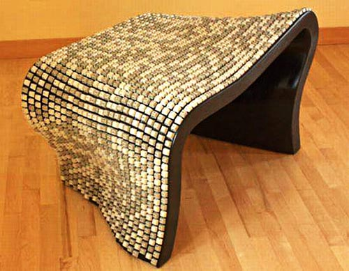 Nolan Herbut's Wolfgang Keyboard Bench covered over keys