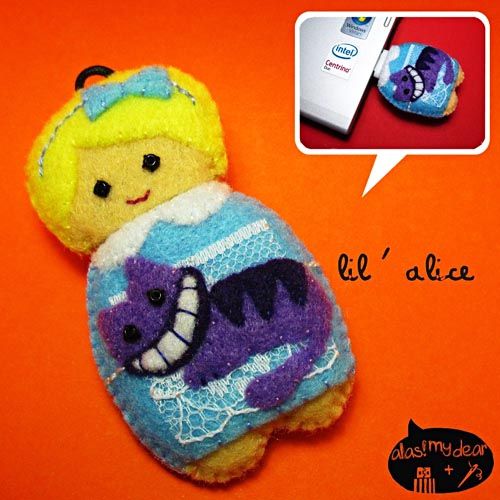 Cute Alice in Wonderland doll USB flash drive