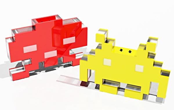 ATARI Space Invaders Salt and Pepper Shakers