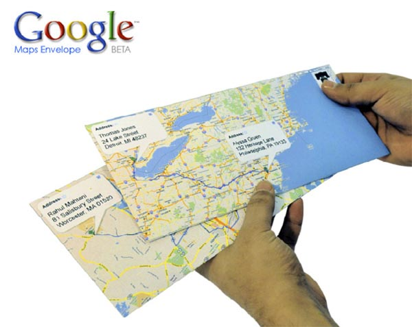 Google Map Envelopes