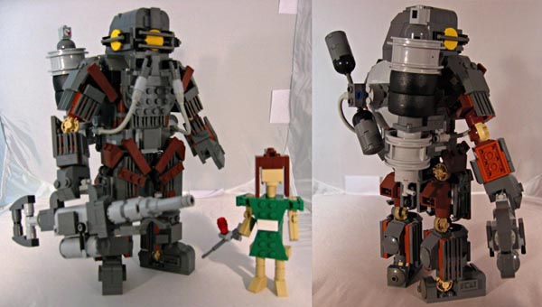 Amazing Lego Big Daddy From Bioshock Gadgetsin