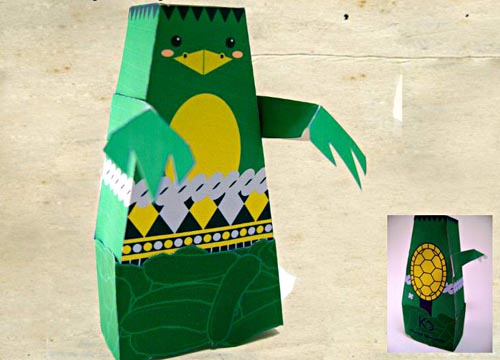 monster paper figures