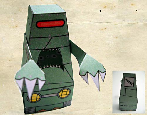 monster paper figures