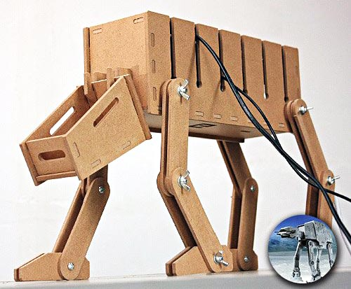 Wooden Star Wars AT-AT for your tangled wires