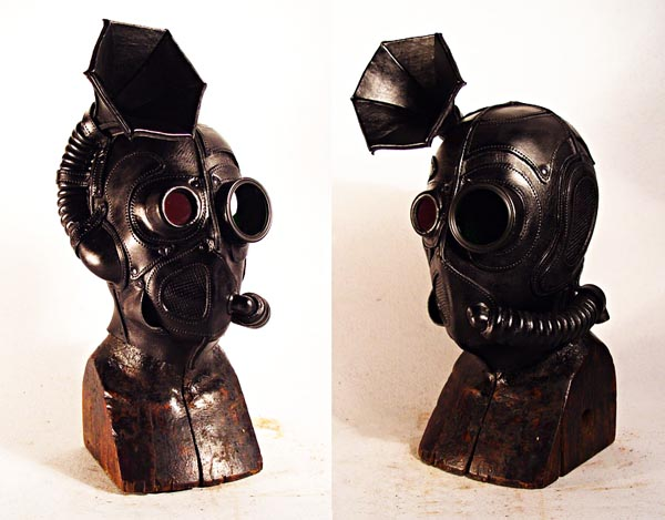 Steampunk Leather Mask Integrated Built In Speaker Gadgetsin