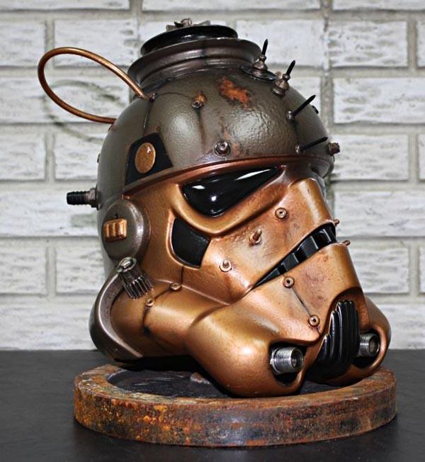Steampunk stormtrooper helmet gadgetsin - Stormtrooper cookie jar ...