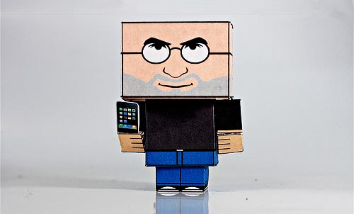 Make your own Steve Jobs cubee papercraft model