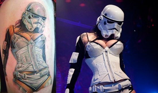 The Hottest Storm Trooper Turns into Tattoo