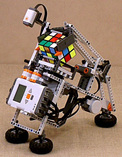Rubik's Cube-solving Robot with Lego Mindstorms Robotics Kit