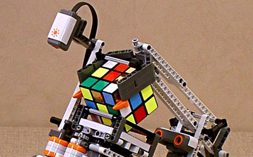 Make Rubik's Cube-solving Robot with Lego Mindstorms ...