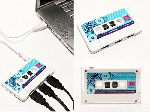 Cassette-shaped mix tape USB Hub