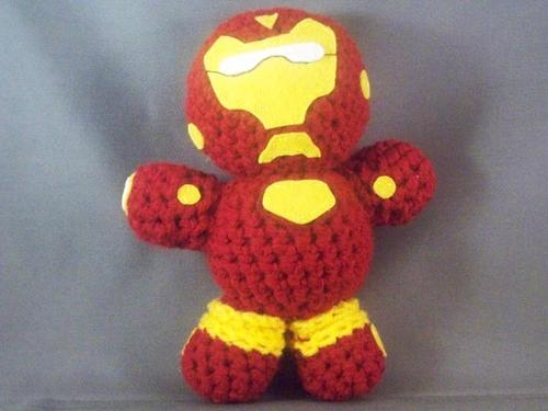 handmade Iron Man amigurumi doll