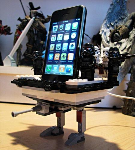 LEGO iPhone Dock inspired by AT-TE Walker from Star Wars
