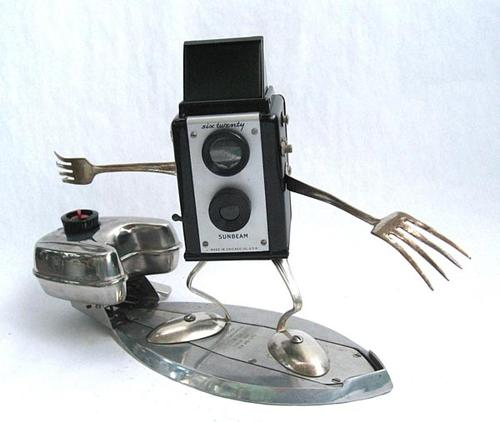 Found Art Assemblage Robot by Brian Marshall