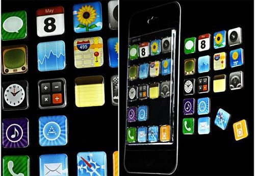 iPhone App Icon Fridge Magnets Kit