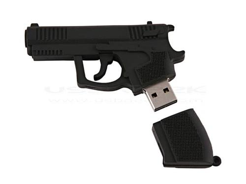 Don't show the gun-shaped USB flash drive to cops
