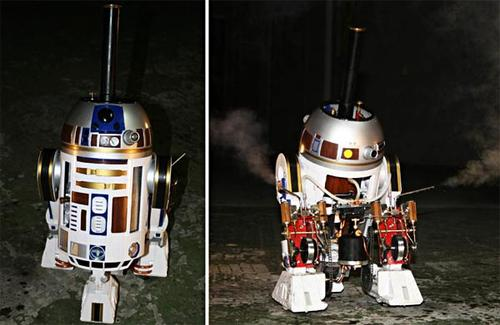 Star Wars R2-D2 emerges in our world