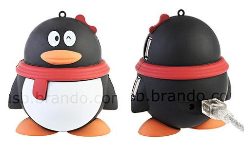 Cute Penguin 4 Port USB Hub inspired from Chinese QQ