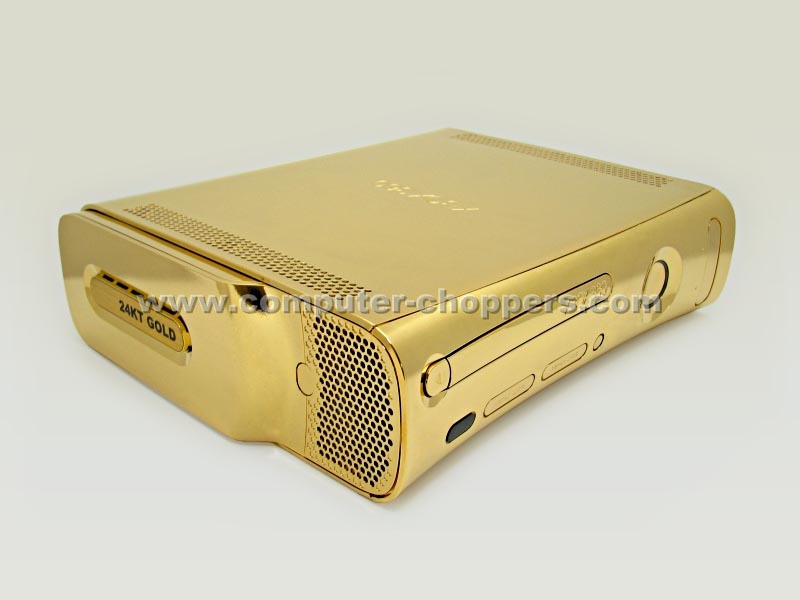 golden xbox 360 mod by computer choppers gadgetsin