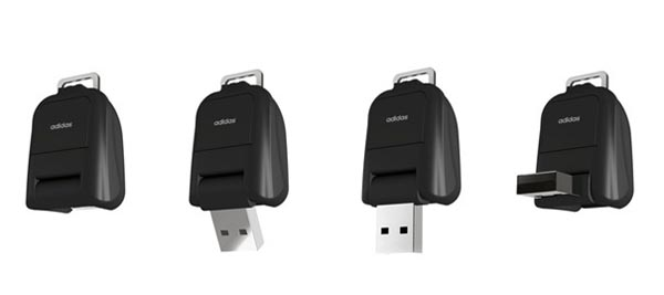 Adidas USB Flash Drive Shaped as Roll-on Suitcase