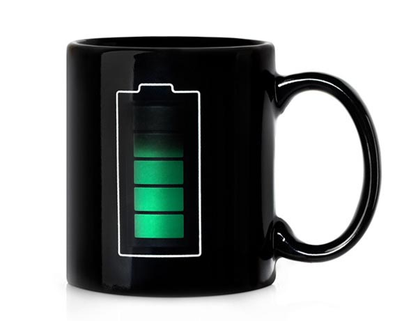Battery Life Mug Integrated Temperature Sensor