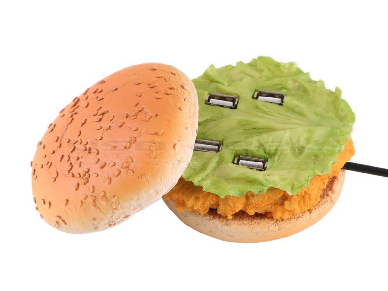 Delicious Usb 4 Port Hub Shaped As Chicken Burger Gadgetsin