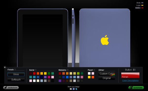 Through ColorWare custom iPad color