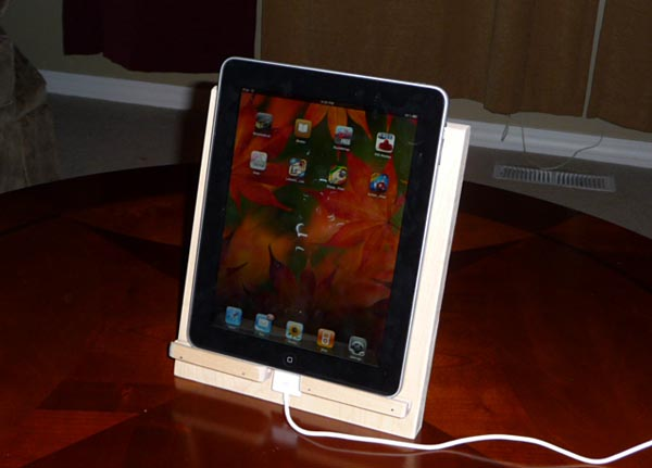 DIY Eco-friendly Wooden iPad Stand