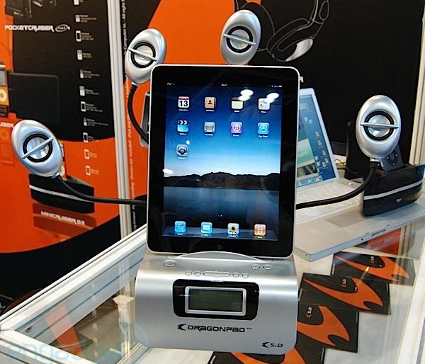 Dragonpad iPad docking station just like exciting octopus