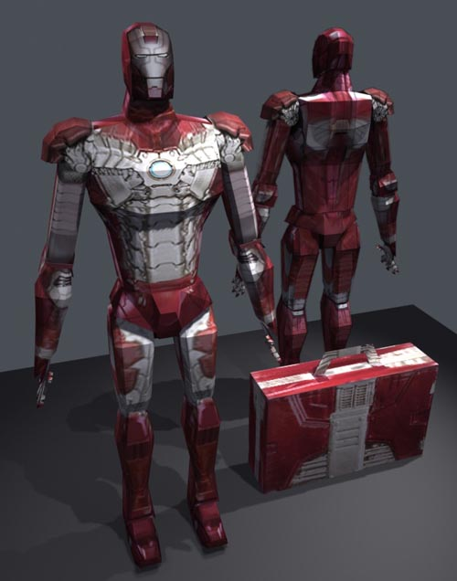 make your own iron man 2 paper figures