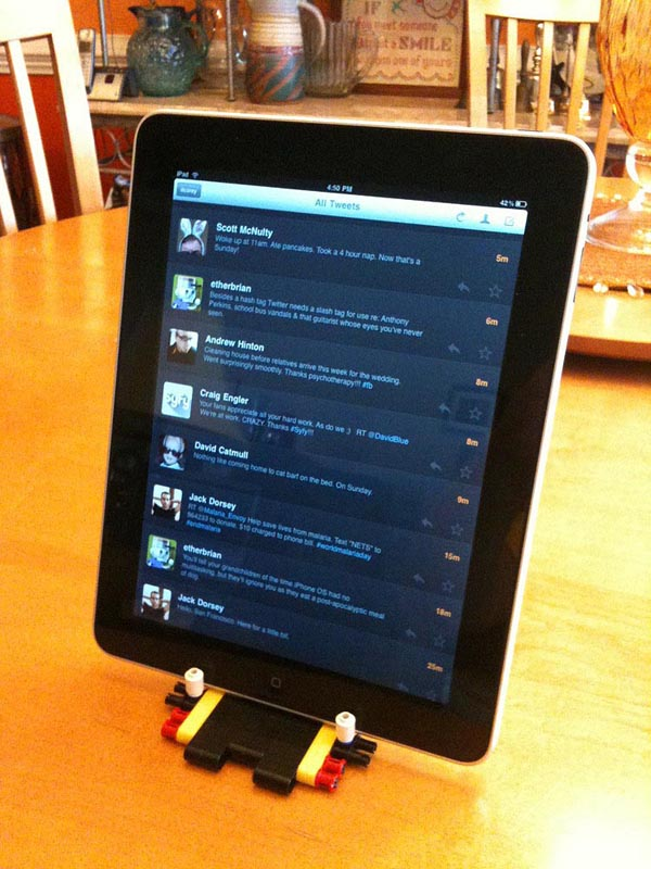 Stand Up Desk >> LEGO iPad Stand by Corey Marion | Gadgetsin