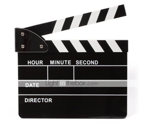 Movie Slate LED Clapper Board Alarm Clock cuts your sleeping