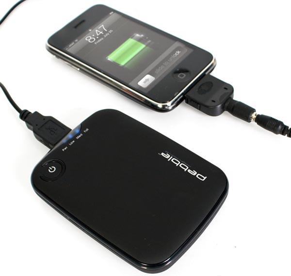 Pebble Portable Charger for your iPhone and mobile devices