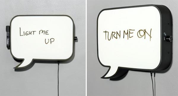 Speech Bubble Snakkes Wall Lamp