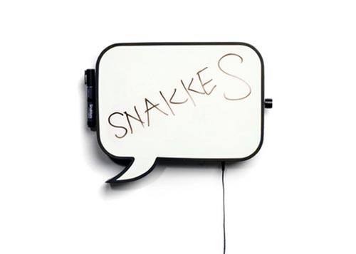 Speech Bubble Snakkes Wall Lamp
