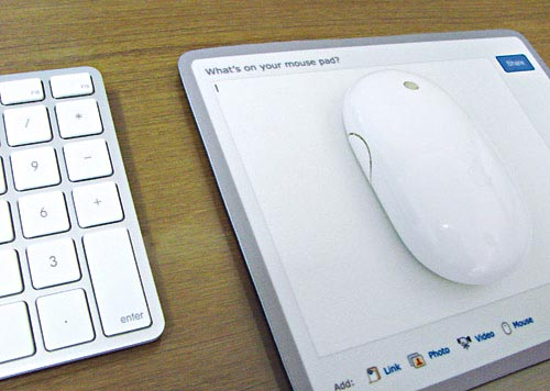 Twitter and Facebook Mouse Pads