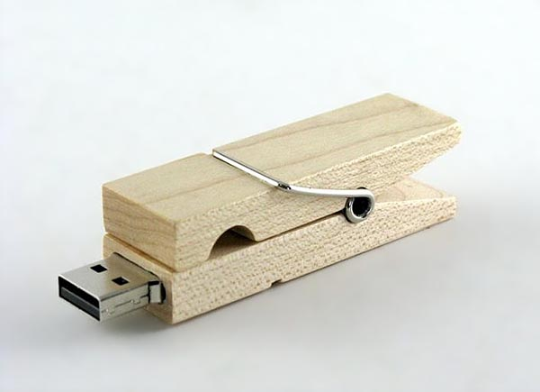 Clothespin Wooden USB Flash Drive