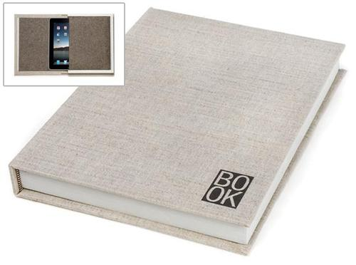 Book-shaped iPad case