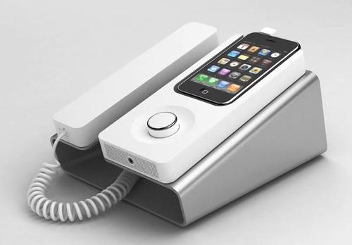 Desk Phone Dock Turns iPhone into Wired Telephone