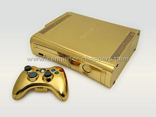 Golden Xbox 360 Mod by Computer Chopp