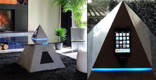 Horus coffee table doubles as your iPod dock