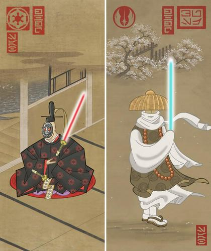 Samurai Star Wars in Edo Ukiyoe