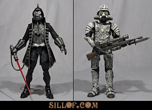 Star Wars Figures in Victorian Steampunk by SILLOF